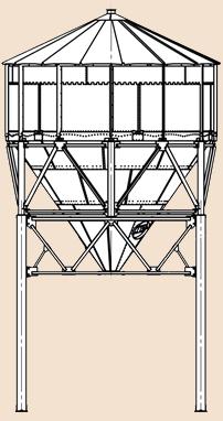конусное зернохранилище с проездом
