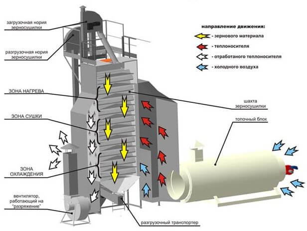 Сушка зерна на элеваторе технология элеватор для зерна ссср фото