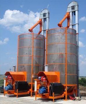 Сушилка зерна для кукурузы, пшеницы, семян на газу